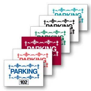 Parking Permit Inside Adhesive Scroll