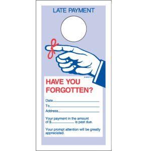 Door Hanger- Late Payment 1 Part