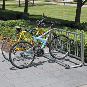 Bike Rack - 8' Single Side J Frame - Vertical