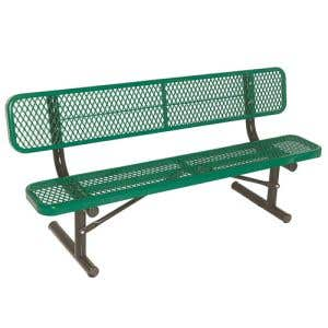 Thermoplastic Steel Benches - 8'