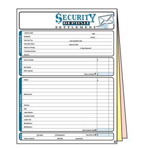 Security Deposit Form