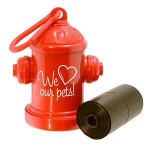 Fire Hydrant Pet Waste Bag Leash Dispensers