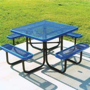 Thermoplastic Coated Picnic Tables - Square