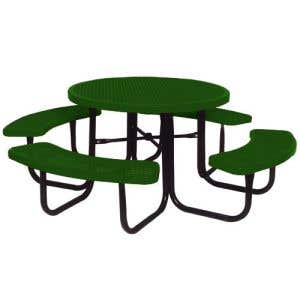 Thermoplastic Coated Picnic Tables - Round