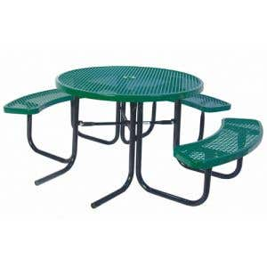 Thermoplastic Coated Picnic Tables - ADA Round