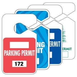 Large Parking Hang Tags - Designs and Patterns