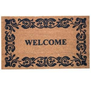 Ornate frame design beautifully edges the Coco Mat!