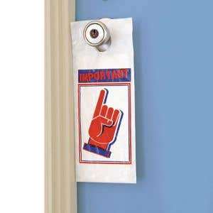 Opaque Door Hanger Bag - Important