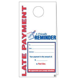 Door Hanger - Late Payment Reminder