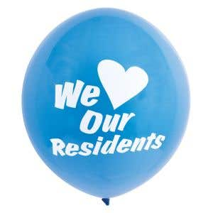 Message Balloon-We Love Our Residents
