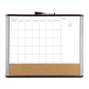 3 in 1 Dry Erase Calendar Combo Board