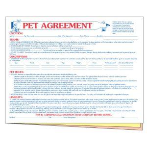 Pet Agreement Form