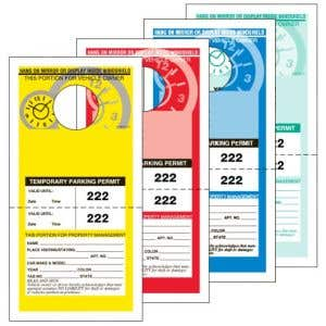 Temporary Parking Permits - Detachable