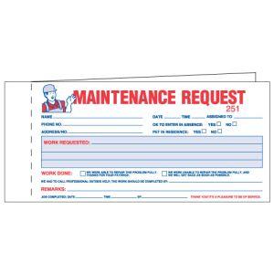 Maintenance Work Order Forms