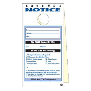 Advance Notice Door Hanger - 2 Part