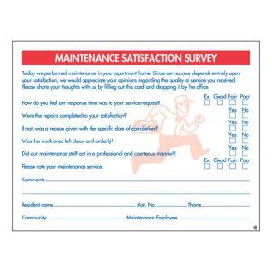 Maintenance Satisfaction Survey