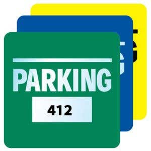 Parking Permit - Inside Adhesive - Large Square