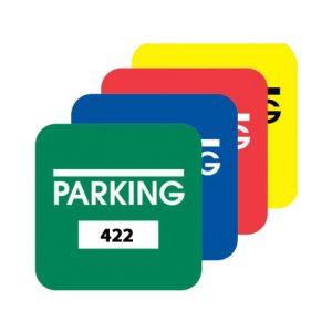Parking Permit Inside Adhesive Medium Square Shape