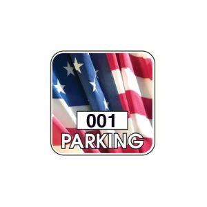 Patriotic Inside Adhesive Window Parking Permit