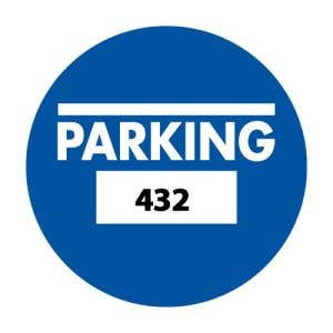 Parking Permit Inside Adhesive Circle Shape