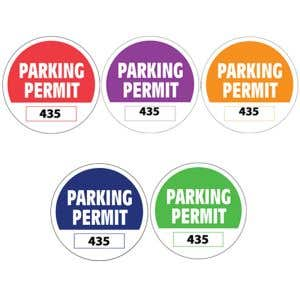 Parking Permit - Inside Adhesive Circle