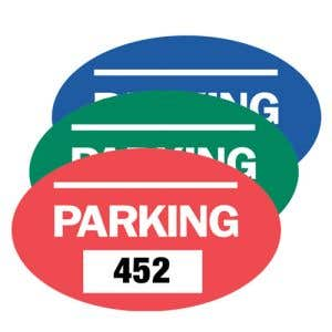 Parking Permit Inside Adhesive Oval Shape