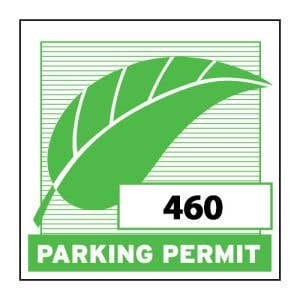 Parking Permit Inside Adhesive Square with Leaf