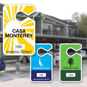 Custom Parking Hang Tag - Large - Designs