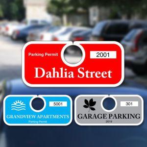 Custom Parking Hang Tag - Horizontal - Solid Colors