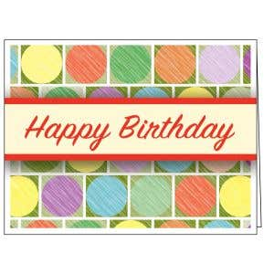 Happy Birthday Card - Colorful Circles