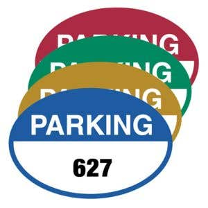 Static Cling Parking Permits - Oval Shape