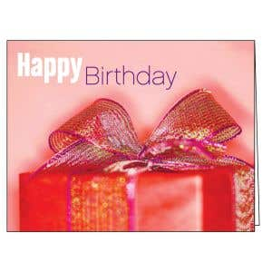 Happy Birthday Card - Red Gift