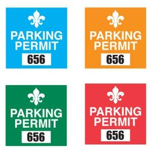 Parking Permit - Static Cling - Square