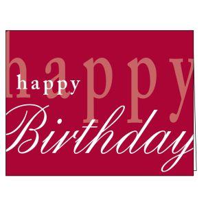 Happy Birthday Card - Designer Burgundy