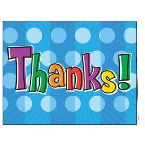 Thanks for Renewing Card - Blue Dots