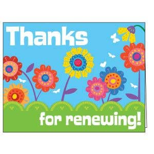 Thanks for Renewing Card - Flowers