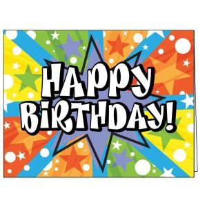 Happy Birthday Card - Starburst