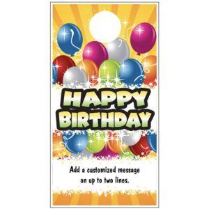 Happy Birthday Door Hanger - Balloon Bunch