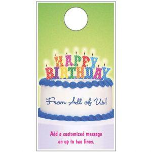 Happy Birthday Door Hanger - Birthday Cake