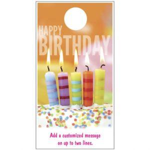 Happy Birthday Door Hanger - Candles Picture