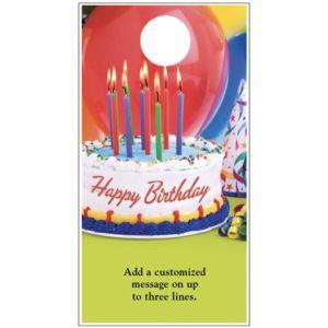 Birthday Door Hanger - Candles and Cake