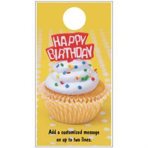 Happy Birthday Door Hanger - Cupcake