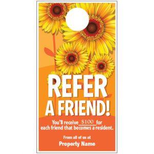 Refer a Friend Door Hanger - Sunflowers