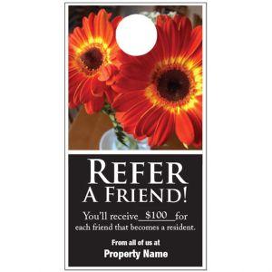 Refer a Friend Door Hanger - Flower Lifestyle