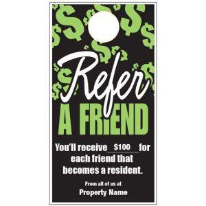 Refer a Friend Door Hanger - Neon