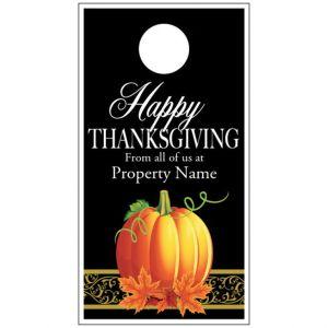 Thanksgiving Door Hanger - Fancy Pumpkin