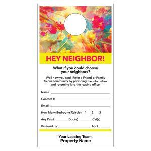 Refer a Friend Door Hanger - Neighbor