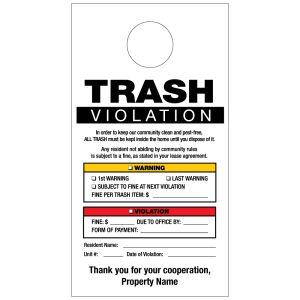 Trash Violation Door Hanger