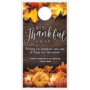Fall Door Hanger - Thankful for You