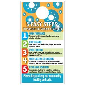 Steps to Prevent COVID-19 Door Hanger